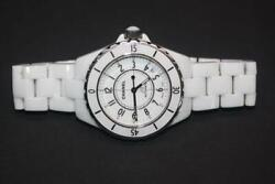 Authentic J12 Automatic Watch White Ceramic Stainless Steel 38mm Case