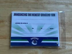Nhl Hockey Newest Vancouver Canucks Fan Baby Annoucement 10 Card / Envelopes