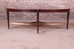 Thomas Pheasant For Baker Furniture Mahogany And Brass Coffee Table