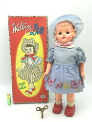 Vintage 1952 Mechanical Sleeping Doll Tinplate Figure Toy Very Rare