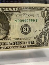 Unc 1988a 1 Note With Fancy Binary Number 66666600 99.51 Extremely Rare!!