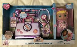 Doc Mcstuffins Lil' Nursery Pal And Toy Hospital Doctor's Bag Set - Pink Kitty