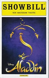 Aladdin Original Cast Collector Playbill Broadway Obc May 2015