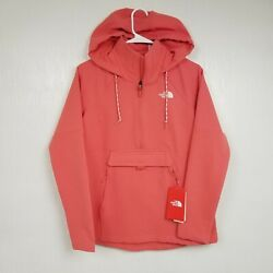 The Womens Tekno Ridge Pullover Hoodie Xs Extra Small Coral Anorak