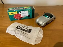 Schuco Lilliput Silver Porsche Micro Racer 1047 - Complete With Box And Key