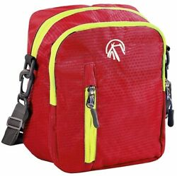 Messenger Bag Crossbody Sling Shoulder for travel Camp Biking Ripstop Rugged Red $8.97