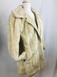 Vintage Jacket 60and039s Adolph Schuman Lilli Ann Faux Fur Leather Coat Glam Mod Gogo