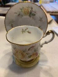 Beautiful Paragon Peace Rose Tea Cup And Saucer With Stand Early 50's Ex-nm