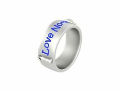 Nautical Love Note Band Beach Theme Sea Lovers Wedding Band 925 Sterling Silver