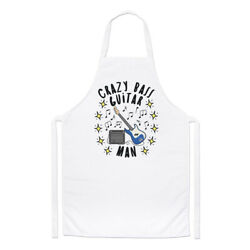 Crazy Bass Guitar Man Stars Chefs Apron Dad Fathers Day Boyfriend Funny Cooking