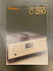 Accuphase C280 Original Audio Brochure - Not A Reprint