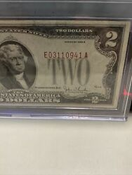 Error 1928 G 2 Two Dollar Bill 《red Seal Andnumber Shfit Down》 Unc !super Rare!