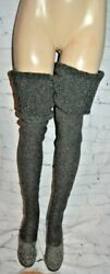 Vintage Isaac Mizrahi Designer Knit Thigh High Boots Over The Knee Size 7 - 7.5