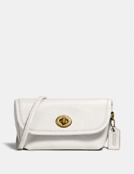 NWT COACH Turnlock Flare Belt Bag In Colorblock 315 Chalk $96.95