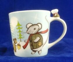 Starbucks 2010 3d Huxley Mouse And Squirrel Friend Winter Holiday Coffee Mug Cup