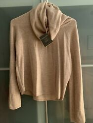 Garnet Hill Cowl Neck Bell Sleeve Cashmere Sweater Size S Nwt 148