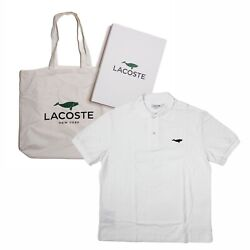 Lacoste Save Our Species Whale Limited Edition White Polo Shirt Tote Bag Set L
