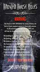 Haunted House Haunt Rules Custom Name And Rules Video Fx Unit Halloween Prop