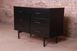 Paul Mccobb Planner Group Black Lacquered Six-drawer Dresser Or Credenza