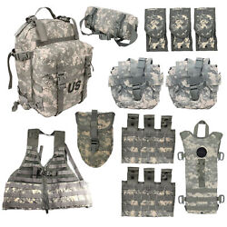 12 Piece Molle Rifleman Kit Tactical Rucksack Vest Pouch Genuine Issue — Used