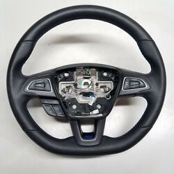 2016-2018 Ford Focus Rs Heated 3-spoke Blue-stitched Sport Steering Wheel Oem