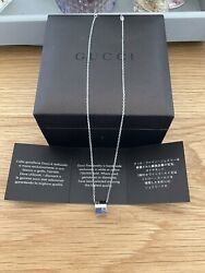 New Genuine 18ct White Gold Icon Necklace With Box