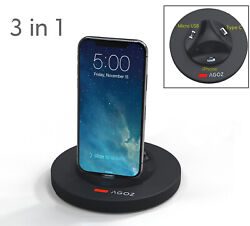 3 In 1 Phone Charger Stand Holder Dock For Motorola One Fusion+ Moto G G7 Z4 E X