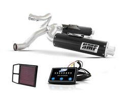 Hmf Can-am Commander 1000 2011 - 2013 Black Dual 3/4 Exhaust Outer Mnt Efi Kandn