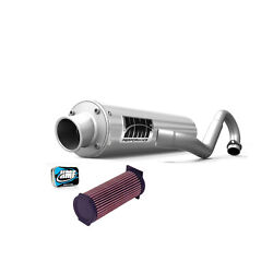 Hmf Yamaha Grizzly 660 2002 - 2008 Full Exhaust Muffler And Jet Kit + Kandn Filter