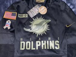 Authentic Miami Dolphins Salute To Service Military Nike Sideline Hoodie