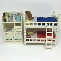 Calico Critters Childrens Bedroom White Bunkbeds Accessories Sylvanian Families