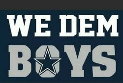 Dallas Cowboys We Dem Boys Flag Banner Man Cave Tailgate New 3x5 Ft Factory Seal