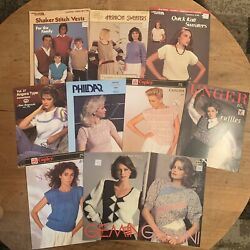 Vtg Lot Of Pattern Cards And Books Gemini Sweaters Vests Crafting