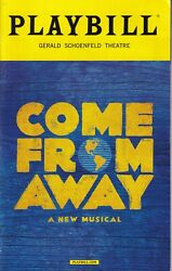 Free Shipping Come From Away Original Broadway Cast Playbill August 2017