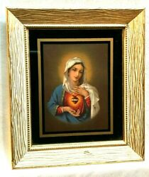 Immaculate Sacred Heart Of Mary Litho Print Holy Mother Lady Perpetual Help