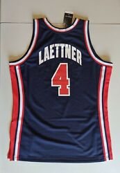 Christian Laettner Mitchell And Ness Usa 92 Dream Team Authentic Jersey 44 Jordan