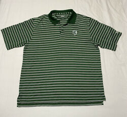 Under Armour Michigan State Spartans Polo Shirt Mens Size Large