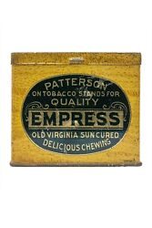 Scarce 1910s Empress Hinged Litho 16 Oz. Tobacco Tin In Very Good Condition
