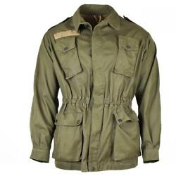 Italian Army O.d. Green Field Jacket Sizes Sml Good Used Conditionfree Ship
