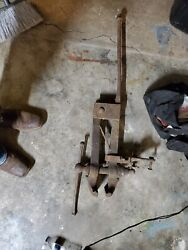 Antique Blacksmith Post-leg Vise 4-1/2 Wide Jaws - Weight 50 Pounds - 41 Tall