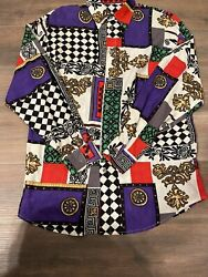 Extremely Rare Georges Marciano Button Up Long Sleeve Rayon Shirt Gianni Style