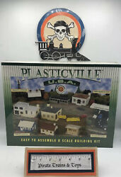 Bachman Plasticville Firehouse With Vehicles O Scale Building Kit 45610 Noib