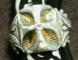 Bill Wall Leather Silver Ring Cross 8.0us Size For Men California Usa From Japan