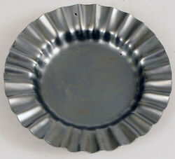 Vintage Hotel Astoria Oslo Norway Fluted Stainless Steel Ashtray Trinket Dish