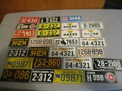 Vintage 1953 1954 Wheaties Cereal License Plate Prize Premiums