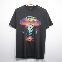 80S Boston Vintage Short Sleeve Band T Shirt Rock S Size Black