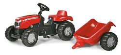 Rolly Toys Massey Ferguson Pedal Tractor With Trailer +2.5 Years Art012305