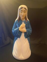 Vintage Empire Blow Mold Mother Mary Christmas Nativity Scene Light Up Figure