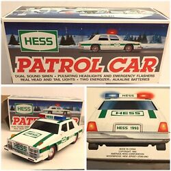 Hess Toy 1993 Patrol Car Gas Station Collectible Boxed W/ Tray Lights Sounds B