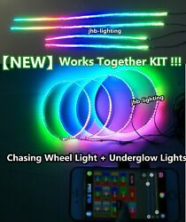 Jhb 17.5bluetooth Chasing Wheel Lights + Underglow Strips Lights Works Together